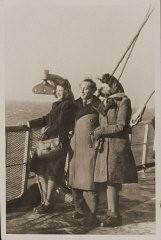 Regina with Rozalia and Miles Lerman en route to the United States