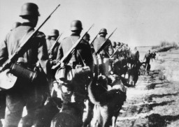 German troops on the move during an anti-partisan operation.