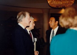 "<p>From left to right: former US President Jimmy Carter, Judge <a href=""/narrative/10415/en"">Thomas Buergenthal</a>, former UN ambassador Andrew Young. Judge Buergenthal was the director of the human rights program for the Carter Center from 1986–89.</p>"