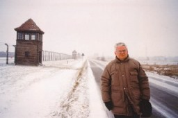 "<p><a href=""/narrative/10415/en"">Thomas Buergenthal</a> at Auschwitz in 1995, fifty years to the day after his forced march out of the camp as a child. Poland, 1995.</p>