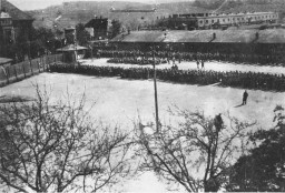 Prisoners in the roll call area at Melk