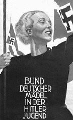 Affiche de recrutement nazie encourageant les jeunes femmes à rejoindre les rangs de la Ligue des jeunes filles allemandes (Bund ...
