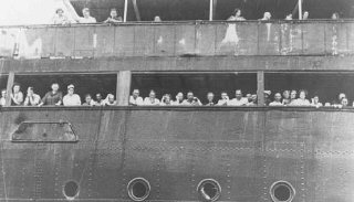Refugees aboard the