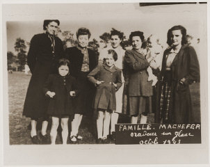 The Machefer family in Oradour. All of the people pictured here, except for the father, were killed by the SS during the June 10, ...