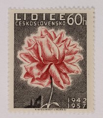 1957 Czech postage stamp commemorating Lidice