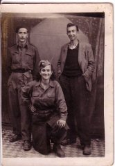 Sara Fortis, center, in partisan uniform.