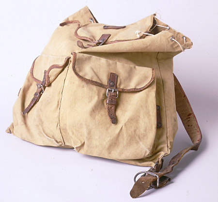 Backpack belonging to Ruth Berkowitz