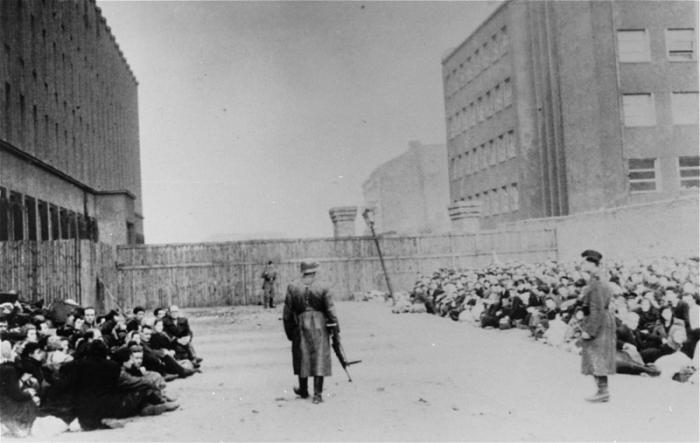 Assembly point in the Warsaw ghetto