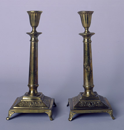Candlesticks taken to Vilna by Polish Jewish refugees