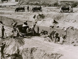 Forced labor in a quarry