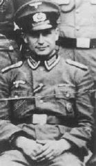 SS Lieutenant Klaus Barbie in Nazi uniform. Barbie, responsible for atrocities against Jews and resistance activists in France, was ...