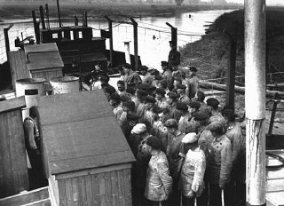 Many of the early concentration camps were improvised.