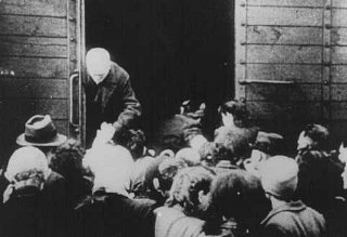 Deportation of Jews from the Westerbork transit camp.
