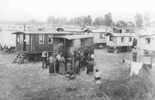 Marzahn internment camp for Roma (Gypsies)