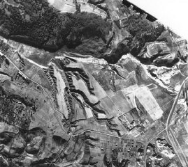 An aerial photograph of Babi Yar taken by the German air force.