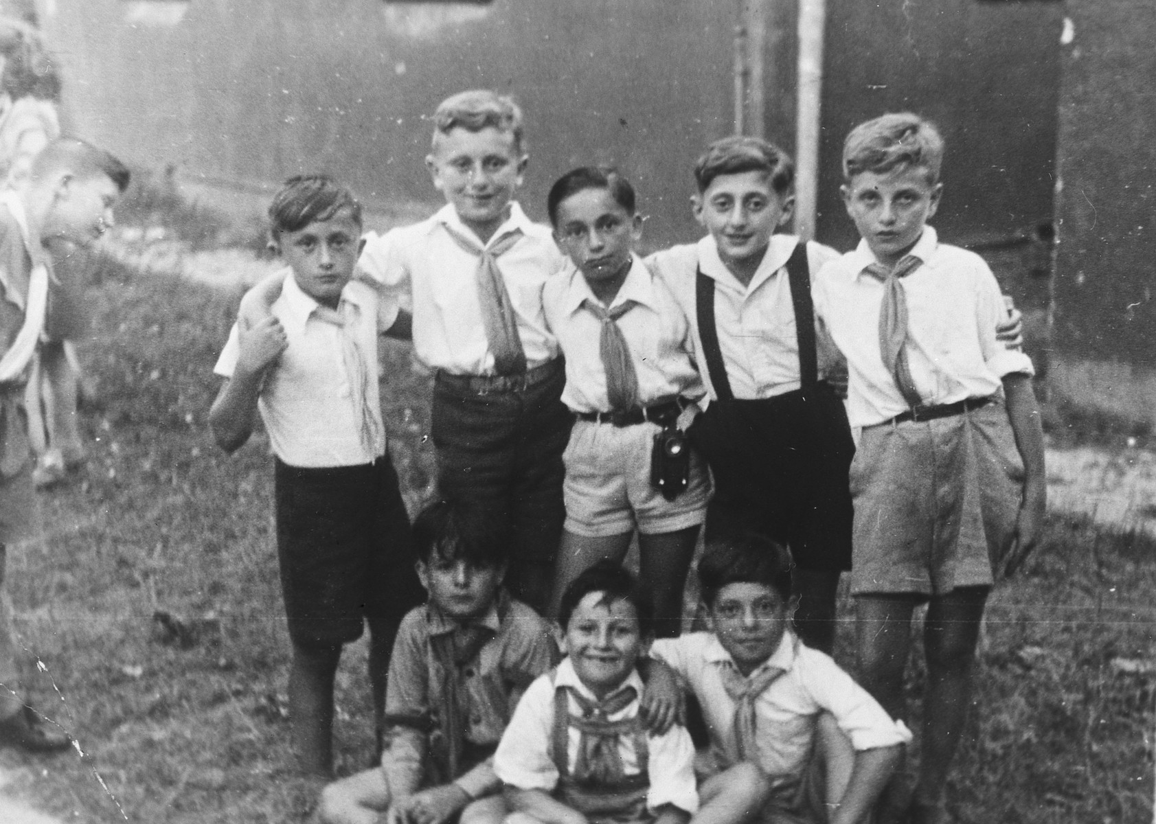 Young children in the Stuttgart displaced persons camp