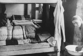 Living quarters in the Theresienstadt ghetto. Theresienstadt, Czechoslovakia, between 1941 and 1945.